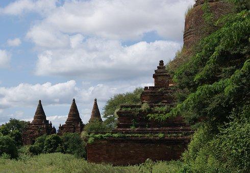 Temple, Pagoda, Stupa, Bagan, Burma, Myanmar, Heritage