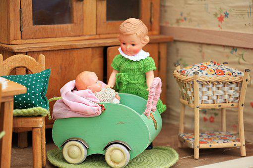 Dolls Houses, Doll's House, Old, Toys, Play