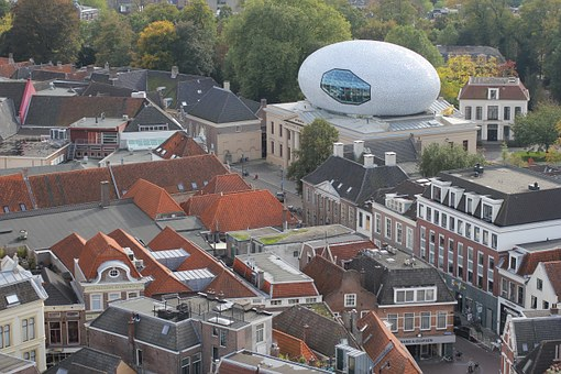 Museum, Zwolle, Architecture, Oval Building, Foundation