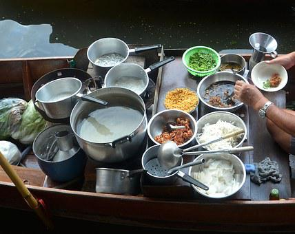 Pots, Pans, Cooking, Boat, River Boat, Kitchen, Food