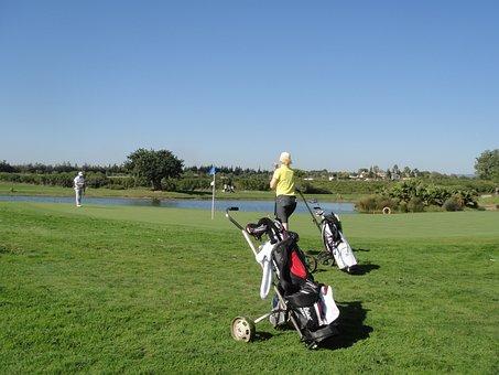 Golf, Putten, Putting, Golf Course, Space, Green