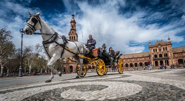 Sevilla, Horse, Spain, Tourism, Travel, Carriage