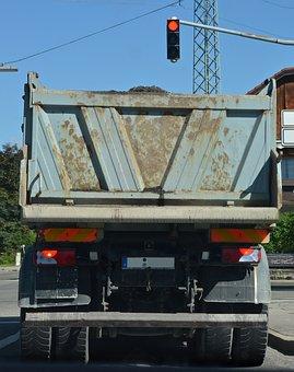 Truck, Dump Truck, Construction, Kempten, Site