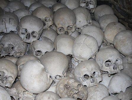 Skull, Skull And Crossbones, Mortal, Church, Crypt