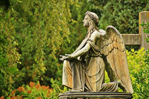 Angel, Stone Angel, Sculpture, Grave, Tombstone