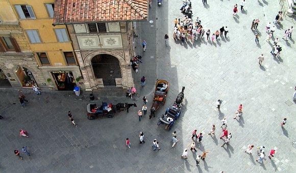 Florence, Italy, Street, Tuscany, Italian, City, Aerial