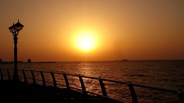 Sunset, Abu Dhabi, Landscape, Afterglow, Nature, Sun