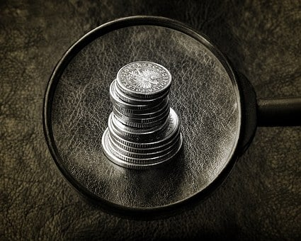 Money, Coins, Search For, Magnifier, The Investigation