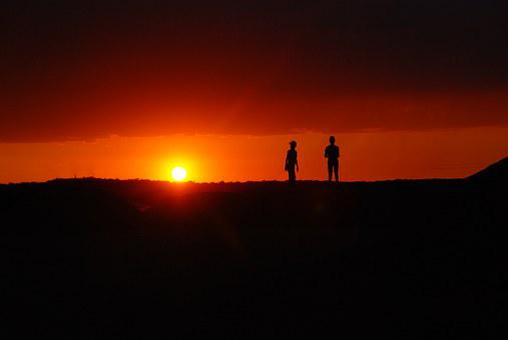 Sunset, Silhouettes, Twilight, Evening, The Sun, Mood