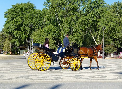 Horse And Cart, Carriage, Traditional, Transport, Retro