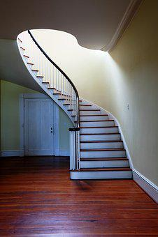 Stairs, Staircase, Emergence, Manor House, Villa