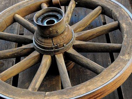 Wheel, Wagon Wheel, Wooden Wheel, Wood, Spokes, Old