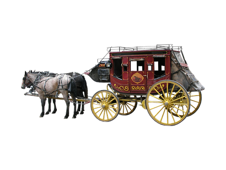 Stagecoach, Isolated, Horse, Western, West, Coach, Wild