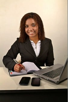 Woman, Black, Businesswoman, Rh, Young, Accounting
