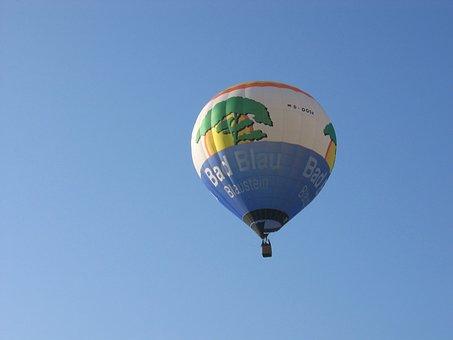 Hot Air Balloon, Captive Balloon, Blue Stone, Bath Blue