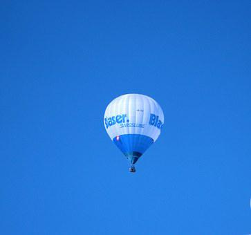 Balloon, Hot Air, Sky, Hot Air Balloon, Blue