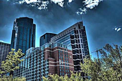 Calgary, City, Canada, Skyscraper, Skyline, Alberta