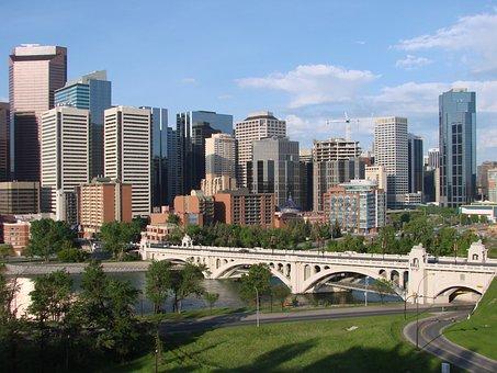 Calgary, Canada, Downtown, Cities, City, Skyline