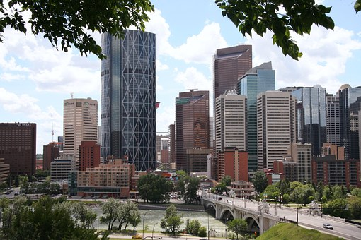 Calgary, Downtown, City Center, Skyline, Cityscape