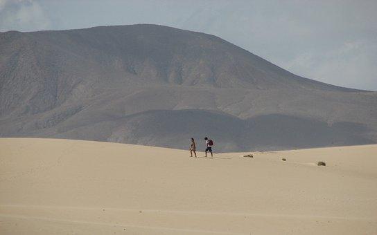 Fuerteventura, Desert, Landscape, Spain, Sand, Dry, Hot