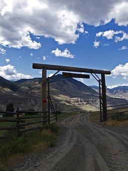 Ranch, Gate, Indian Reservation, Fraser Plateau