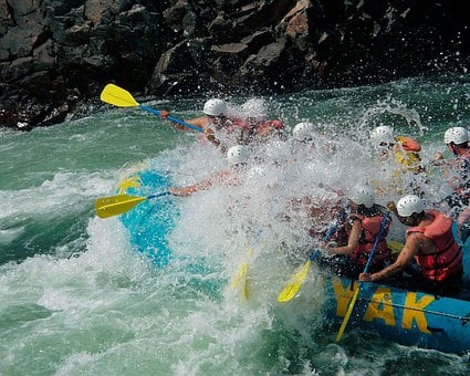 River Rafting, Fraser River, British Columbia, Canada