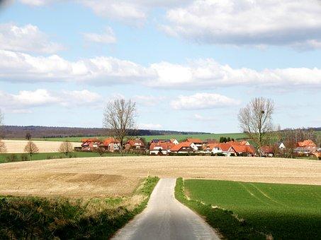 Lane, Rural, Village, Arable, Go For A Walk