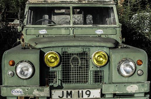 Old Car, Green, 4x4, Automobile, Land Rover, Vehicle