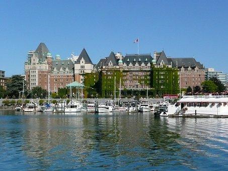 Victoria, Victoria City, Harbor, Water, Empress Hotel