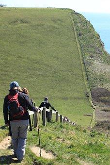 Jurassic, Coastpath, Cliffs, Steps, Vista, Dorset