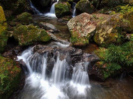 Japan, Kumamoto, Kikuchi, Valley, River, Waterfall