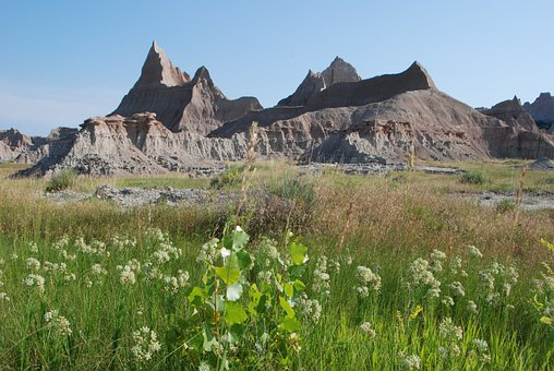 Badlands, Landscape, Scenery, Colorful, Mountains