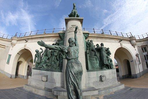 Oostende, Monument, Leopold, Fisheye
