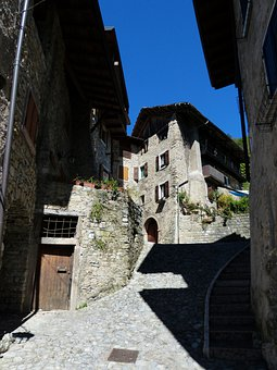 Alley, Houses Gorge, Medieval Village, Village