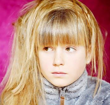 Child, Girl, Blond, Face, Pretty, View, Thoughtful, Sad
