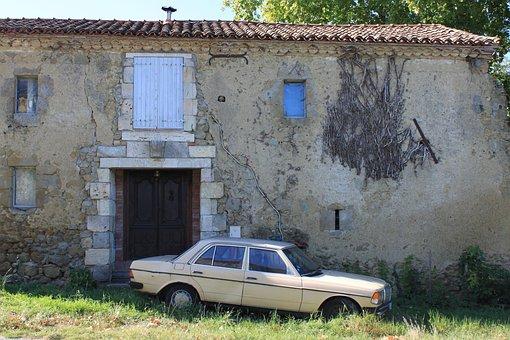 Abandoned Mercedes, Mercedes, Ruin, Deserted, House