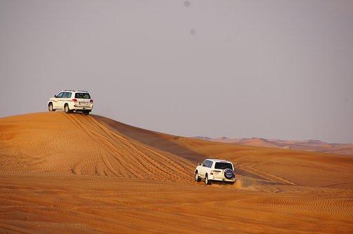 Safari, Dune, Desert, Jeep, Sand, Sahara