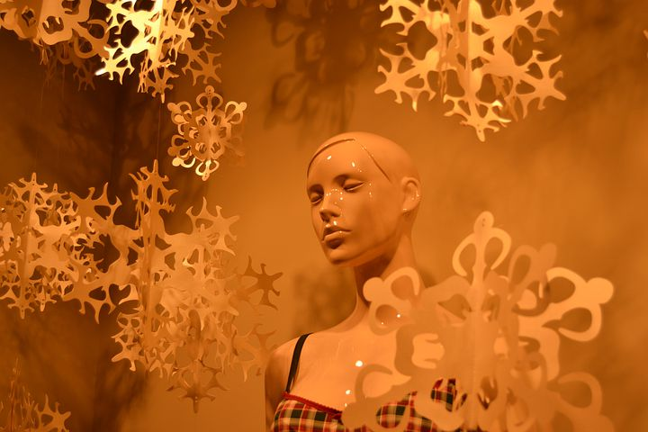 Girl, Dummy, Silence, Snow, Face, Woman, Showcase, Shop