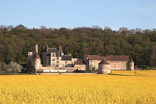 Field, Burgundy, Farm, Culture, The Nivernais Canal