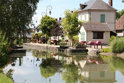 The Nivernais Canal, House, Lock, Lock House, Channel
