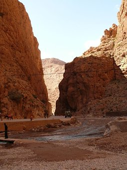 Todra Gorge, Morocco, Gorge, Canyon, Desert