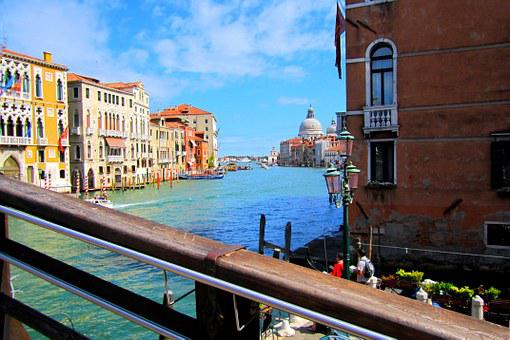 Venice, Channel, Grand, Canal, Italy, Street