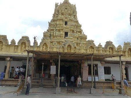 Temple, Ancient Temple, Pillars, Vishnu Temple, Ancient