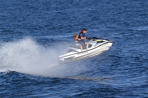 Seadoo, Lake Powell, Page, Water, Reservoir, Activity