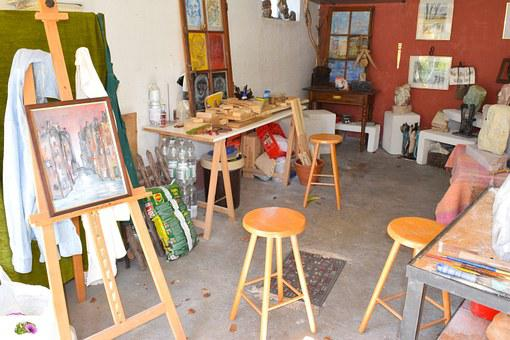 Garage, Atelier, Art, Art Workshop, Works Of Art