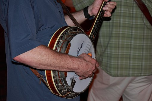 Banjo, Music, Musician, Guitar, Folk, Bluegrass