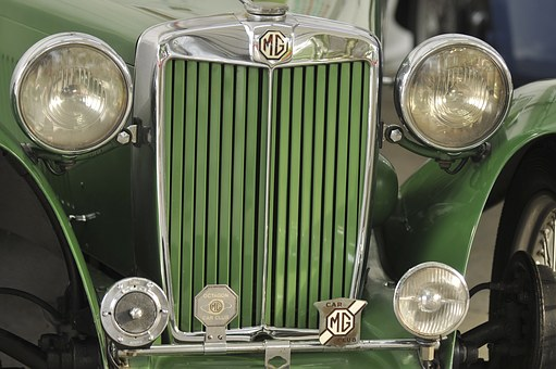 Car, Mg, Automobile, Vintage, Nostalgia, Chrome