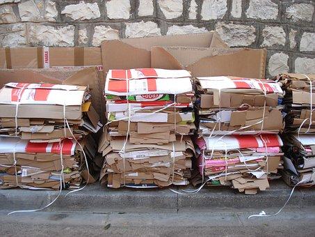 Cartons, Recycling, Wall
