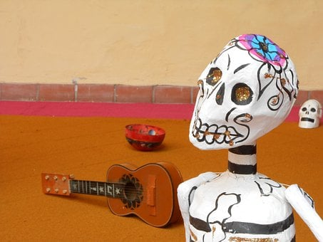 Guitar, Instrument, Skull Of Carton, Casserole