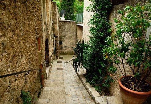 Cévennes, Medieval Village, Lane, Pavers